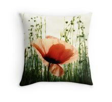 Eclosion de Coquelicot #2 Throw Pillow