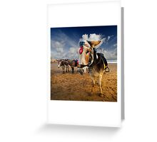 Patch - Beach Donkey Greeting Card