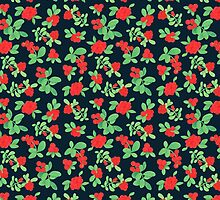 Lingonberry (on Navy) by syhong
