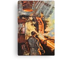 Steel works - Russian 1960's Canvas Print