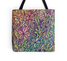 Fantasy bright flowers Tote Bag