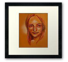 Lipstick Girl E Framed Print