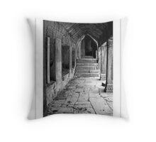 Angkor Thom Corridor Throw Pillow