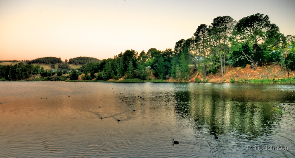 On Golden Pond - Lake Samwell , Beechworth Victoria - The HDR Experience by Philip Johnson