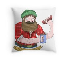 Coffee and Bacon Throw Pillow