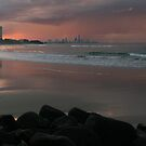 A stormy Burleigh sunset... by Keiran Lusk