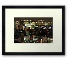Incheon at Night Framed Print