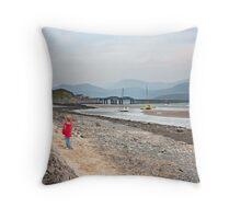 Barmouth Bridge Throw Pillow