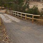 Old wooden one-lane bridge by leanimal