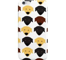 Labrador black chocolate yellow  pattern iPhone Case/Skin