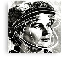 The first female Cosmonaut Canvas Print