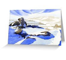 Curbar Edge, Peak District, Derbyshire Greeting Card