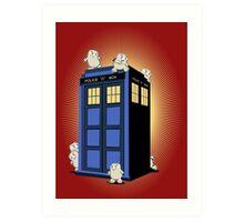 ADIPOSES CONQUERS THE TARDIS  Art Print