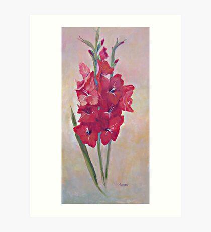 Red Gladiola Art Print