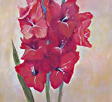 Red Gladiola by jimmie