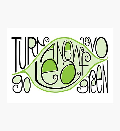 Go Green Leaf Photographic Print