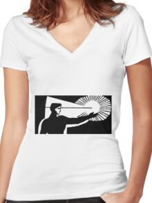 Future technology Women's Fitted V-Neck T-Shirt