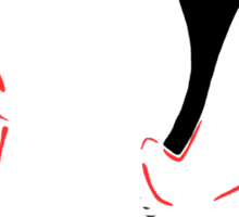 Red Shoes Sticker