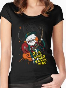 Long Way - Angus Young Tribute Women's Fitted Scoop T-Shirt