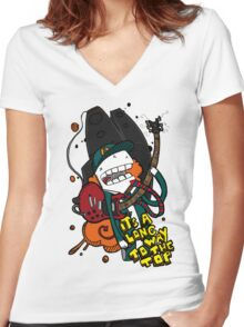 Long Way - Angus Young Tribute Women's Fitted V-Neck T-Shirt