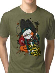 Long Way - Angus Young Tribute Tri-blend T-Shirt