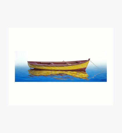 Barca Amarilla Art Print