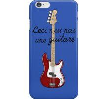 Ceci n´est pas une guitare ver.2 iPhone Case/Skin