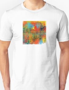 Southwestern Abstract in Red, Aqua, Yellow, and Green Unisex T-Shirt