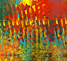 Southwestern Abstract in Red, Aqua, Yellow, and Green Sticker