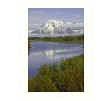 Fog Oxbow Bend Art Print