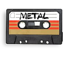 Metal Music - Cassette Tape Canvas Print
