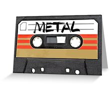 Metal Music - Cassette Tape Greeting Card