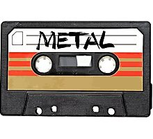Metal Music - Cassette Tape Photographic Print