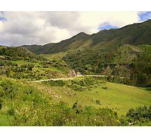 Hills of Cusco Photographic Print
