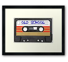 Old School Music Cassette Tape Framed Print