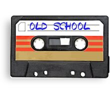 Old School Music Cassette Tape Canvas Print