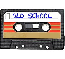 Old School Music Cassette Tape Photographic Print
