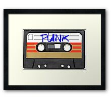 PUNK Music Cassette Tape Framed Print