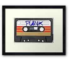 PUNK Music band logo in Cassette Tape Framed Print