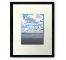 Serene Beach Scene Framed Print
