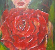 SUMMER NYMPH LOST IN A ROSE  by GittiArt