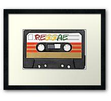 Reggae Music - Cassette Tape - Awesome phone cases Framed Print