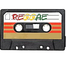 Reggae Music - Cassette Tape - Awesome phone cases Photographic Print