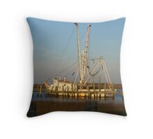 Boat on the Bay Throw Pillow