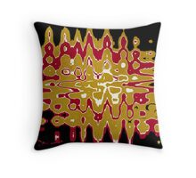 Black Gold Abstract Throw Pillow
