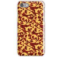 Gold Baroque Damask iPhone Case/Skin