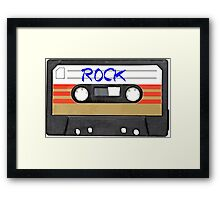 Rock and Roll Music - Cassette Tape - Awesome iphone case Framed Print