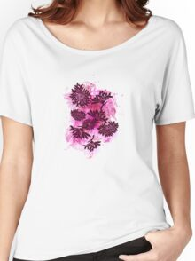 Peonies (black on pink) Women's Relaxed Fit T-Shirt