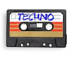 Techno Music Cassette Tape Canvas Print