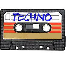 Techno Music Cassette Tape Photographic Print